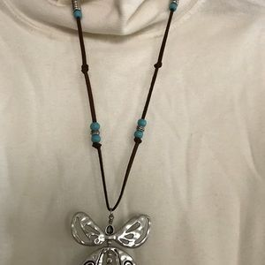 Jewelry - Leather/silver necklace